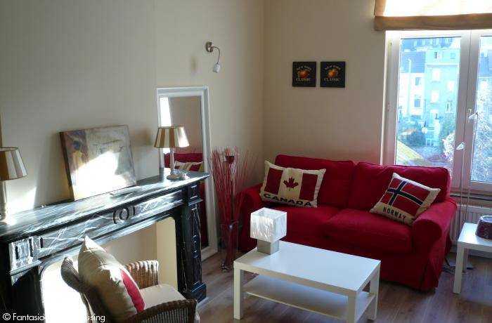 <p>2 bedroom furnished appartement with spacious wooden terrace facing South and view on Eu Parliament close to Place Luxembourg and Shuman Area</p>